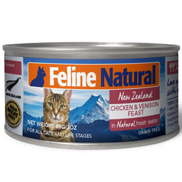 Feline Natural Chicken & Venison Feast Canned Cat Food 85g