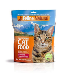 Feline Natural Chicken & Venison Freeze Dried Cat Food 350g