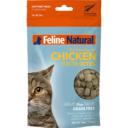 25% OFF: Feline Natural Healthy Bites Chicken Freeze-Dried Cat Treats 50g (LIMITED TIME)