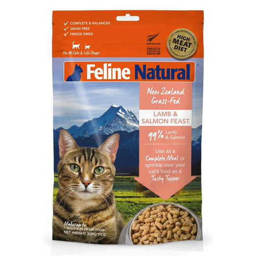 Feline Natural Lamb & Salmon Feast Freeze Dried Raw Cat Food