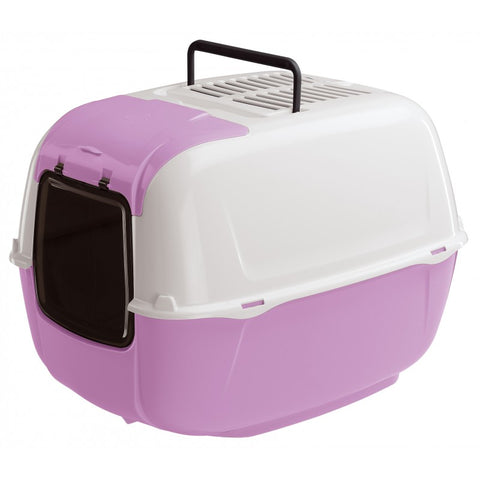 Ferplast Toilet Home Prima Cabrio Hooded Cat Litter Box - Kohepets