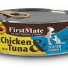 FirstMate Grain Free 50/50 Cage Free Chicken & Wild Tuna Formula Canned Cat Food 156g - Kohepets
