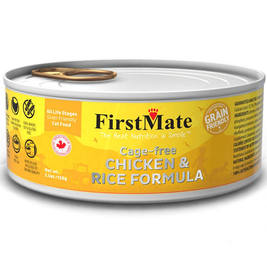 FirstMate Cage-free Chicken & Rice Formula Grain Friendly Canned Cat Food 156g - Kohepets