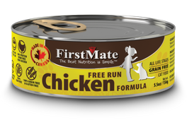 FirstMate Grain Free Free Run Chicken Formula Canned Cat Food 156g