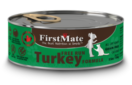FirstMate Grain Free Free Run Turkey Formula Canned Cat Food 156g