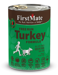 'BUY 3 GET 1 FREE': FirstMate Grain Free Free Run Turkey Formula Canned Dog Food 12.5oz