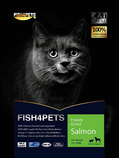 Fish 4 Pets Freeze Dried Salmon Cat Treat 57g