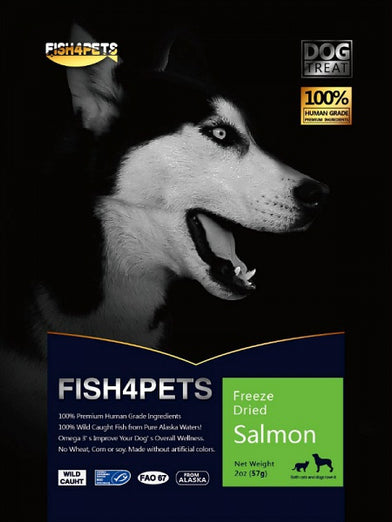 Fish 4 Pets Freeze Dried Salmon Dog Treat 57g - Kohepets