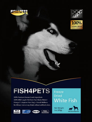 Fish 4 Pets Freeze Dried White Fish Dog Treat 57g - Kohepets