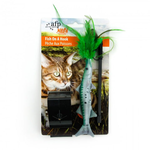 All For Paws Natural Instincts Fish on Hook Cat Toy
