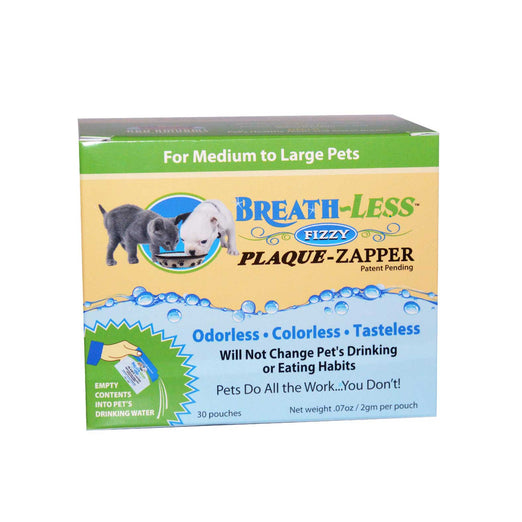 Ark Naturals Breath-Less Fizzy Plaque-Zapper for Medium to Large Pets, 30 packets