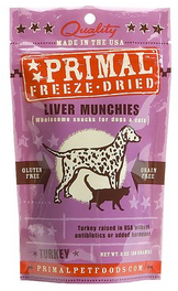 Primal Freeze-Dried Turkey Liver Munchies (Grain-Free) Dog Treat 2oz