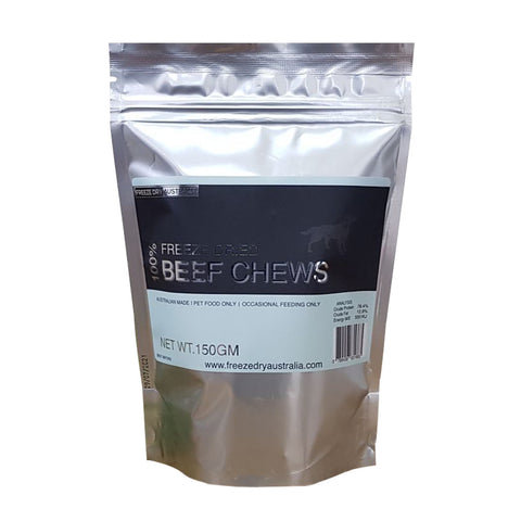 Freeze Dry Australia Freeze Dried Beef Chews Dog Treats 150g