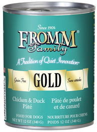 Fromm Gold Chicken & Duck Pate Canned Dog Food 345g