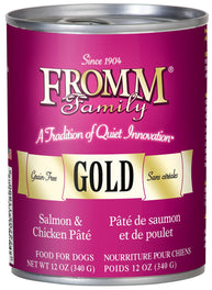 Fromm Gold Salmon & Chicken Pate Canned Dog Food 345g