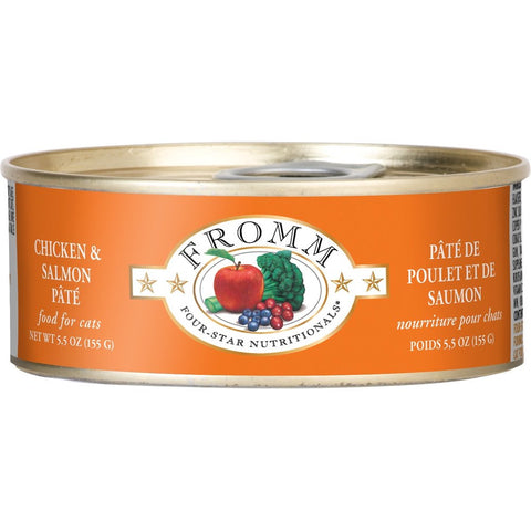 5% OFF:  Fromm Chicken & Salmon Pate Canned Cat Food 155g (Exp Oct 19)