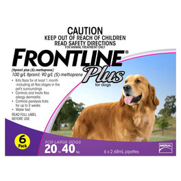 OSCAS Donation: Frontline Plus For Large Dogs 20 - 40kg 6 pack