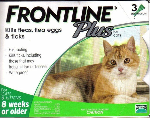 Frontline Plus For Cats 3 pack - Kohepets