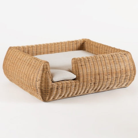 Furnish Shortbread Dog Bed (Natural Willow) - Kohepets