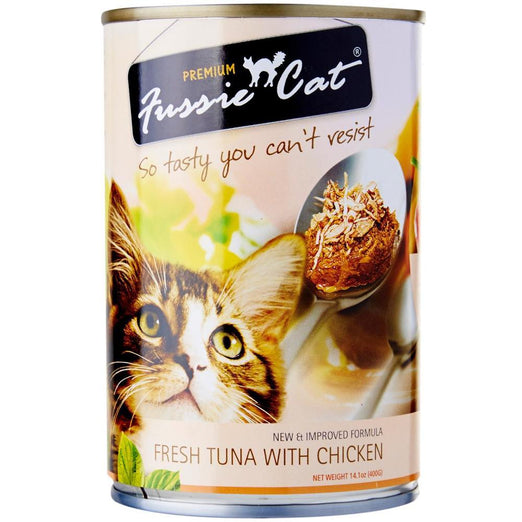 Fussie Cat Fresh Tuna With Chicken Canned Cat Food 400g - Kohepets