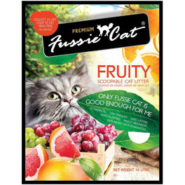 Fussie Cat Fruity Scoopable Cat Litter 10L