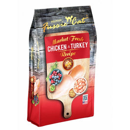 'FREE TREATS' WITH 10lb: Fussie Cat Market Fresh Chicken & Turkey Recipe Grain-Free Dry Cat Food