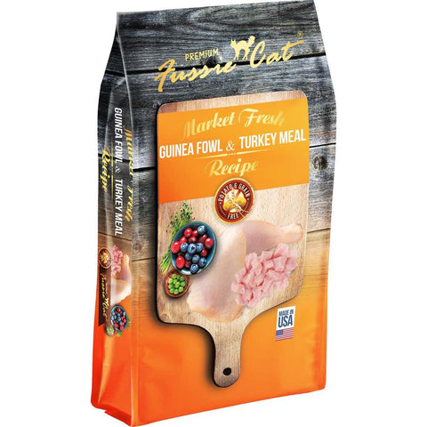 Fussie Cat Market Fresh Guinea Fowl & Turkey Meal Recipe Grain-Free Dry Cat Food