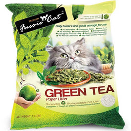 Fussie Cat Natural Green Tea Paper Cat Litter 7L