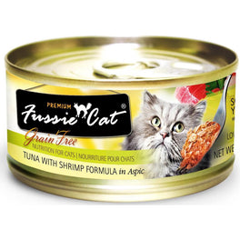 Fussie Cat Premium Tuna With Shrimp In Aspic Canned Cat Food 80g