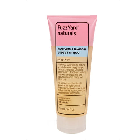 FuzzYard Aloe Vera and Lavender Puppy Shampoo for Dogs 220ml