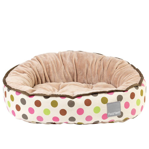FuzzYard Reversible Dog Bed - Polka Delight - Kohepets