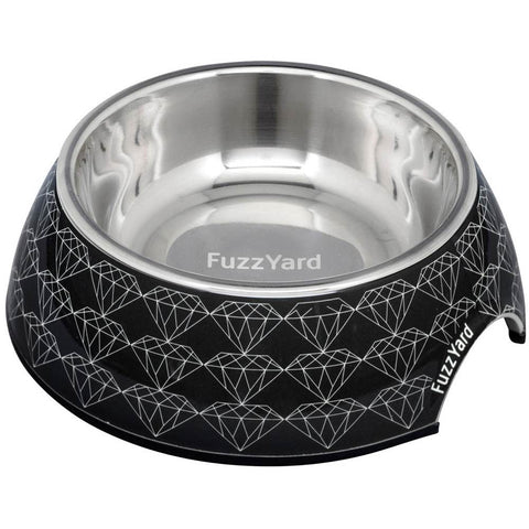 FuzzYard Easy Feeder Pet Bowl - Black Diamond - Kohepets