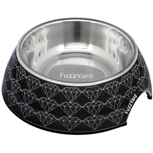 FuzzYard Easy Feeder Pet Bowl - Black Diamond
