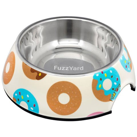 FuzzYard Easy Feeder Pet Bowl - Go Nuts For Donuts (discontinued) - Kohepets