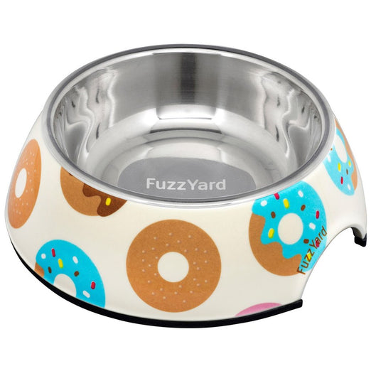 FuzzYard Easy Feeder Dog Bowl - Go Nuts For Donuts (discontinued) - Kohepets