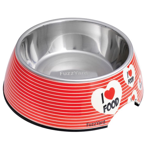 FuzzYard Easy Feeder Pet Bowl - I Love Food (discontinued) - Kohepets