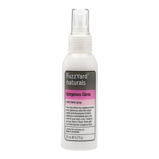 FuzzYard Gorgeous Gloss Coat Shine Spray for Dogs 125ml