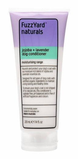 FuzzYard Jojoba and Lavender Moisturising Conditioner for Dogs 220ml - Kohepets