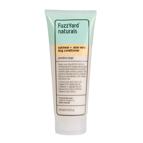 FuzzYard Oatmeal and Aloe Vera Sensitive Conditioner for Dogs 220ml - Kohepets
