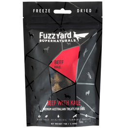 50% OFF: FuzzYard Supernaturals Beef With Kale Freeze Dried Dog Treats 70g (Exp 15 Feb 19)