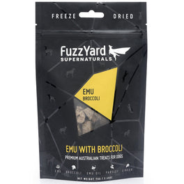 FuzzYard Supernaturals Emu With Broccoli Freeze Dried Dog Treats 70g