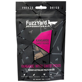 FuzzYard Supernaturals Kangaroo With Sweet Potato Freeze Dried Dog Treats 70g