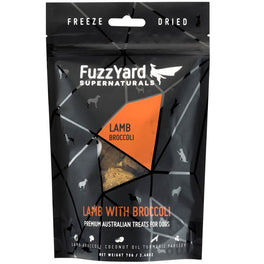 50% OFF: FuzzYard Supernaturals Lamb With Broccoli Freeze Dried Dog Treats 70g (Exp 10 Feb 19)