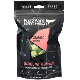 50% OFF: FuzzYard Supernaturals Seafood With Spinach Freeze Dried Dog Treats 70g (Exp 11 Feb 19)