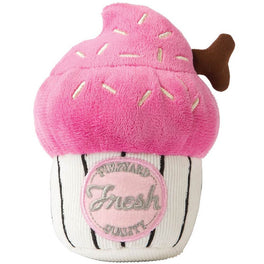 FuzzYard Cupcake Plush Dog Toy - Pink