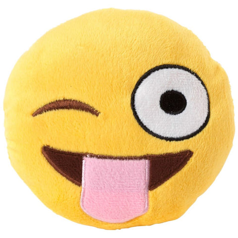 FuzzYard Emoji Tongue Out Plush Dog Toy (discontinued) - Kohepets