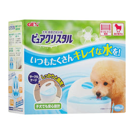 GEX Pure Crystal Cage Drinking Fountain For Puppies 900ml
