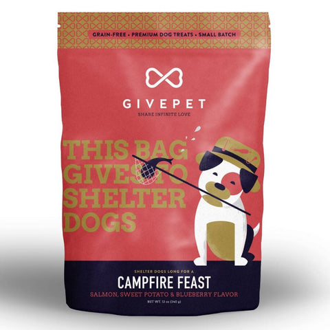 4 FOR $49: Givepet Campfire Salmon Dog Treats 340g