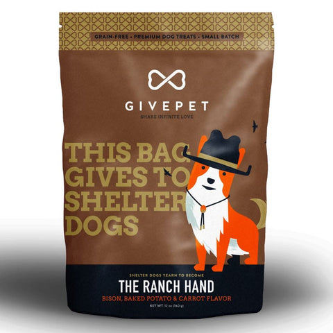 4 FOR $49: Givepet The Ranch Hand Bison Dog Treats 340g