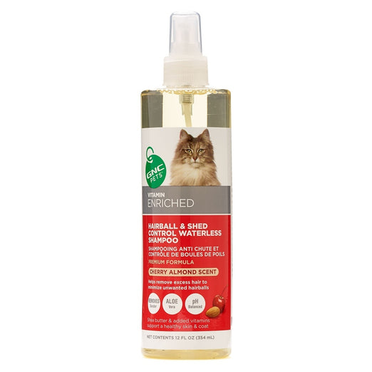 GNC Pets Hairball & Shed Control Cherry Almond Scent Waterless Cat Shampoo 354ml